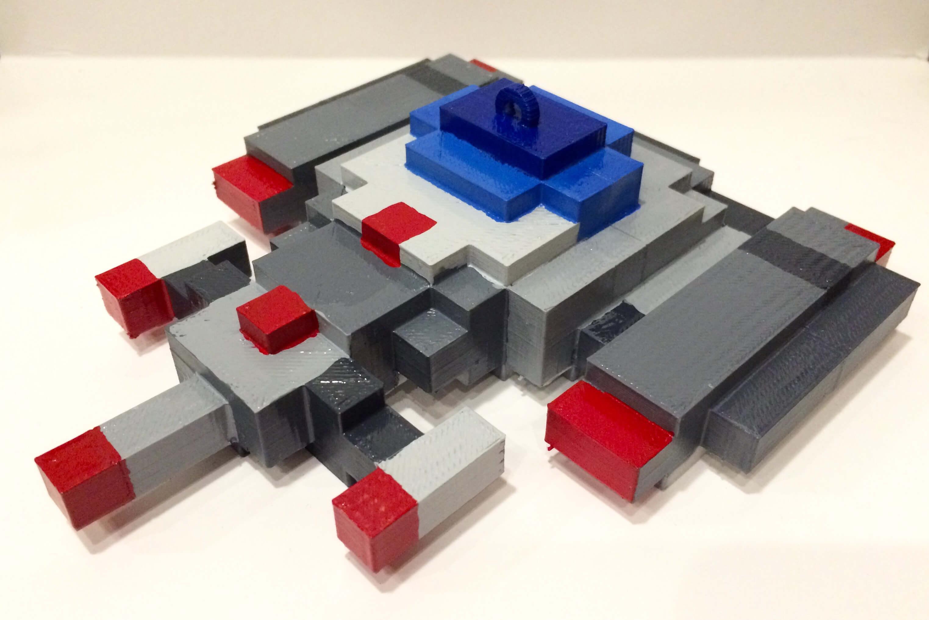 3D Printed Galaga 88 Ship